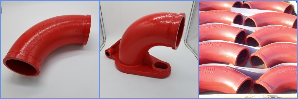 Concret pump casting elbow
