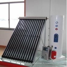 2015 Calentador de agua solar de la pipa de calor presurizada de la venta caliente 100-1000lpd caliente con el intercambiador de calor