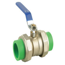PPR hot melted stainless steel ball valve