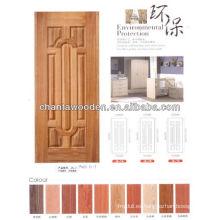 Ceniza, teca, sapele, roble, alegre para la madera de la puerta de madera del hdf