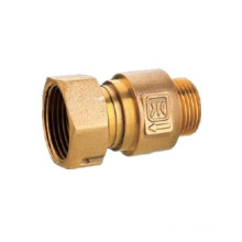 1/2' Forged Brass Water Plumbing Meter Fitting With Compression