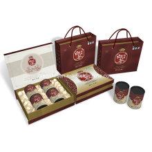 Caixa superior da embalagem do papel do chá da categoria, caixa de presente para o chá