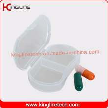 Qualquer caixa de comprimidos de plástico colorido de 2 capas (KL-9126)