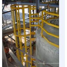 Escaleras de seguridad GRP con jaula Sfety