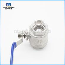 Válvula de bola npt de acero inoxidable por encargo industrial de China