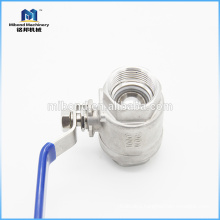 China industrial custom made stainless steel npt ball valve