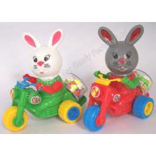 Bonbons de jouet de moto de lapin de dessin animé (101117)