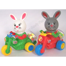 Cartoon Rabbit Motorbike Toy Candy (101117)