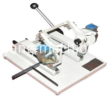 manual long arm and double head eyelet machine