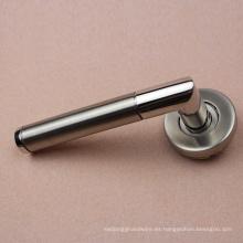 Manija de palanca de manija de puerta de acero inoxidable con ajuste sólido 304
