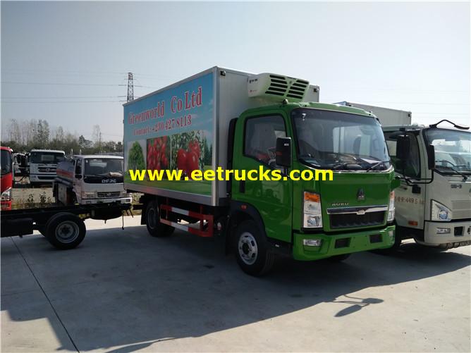 5 Ton HOWO Refrigerated Light Trucks