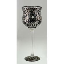 Novo Desgin Glass Mosaic Candle Holder para o feriado