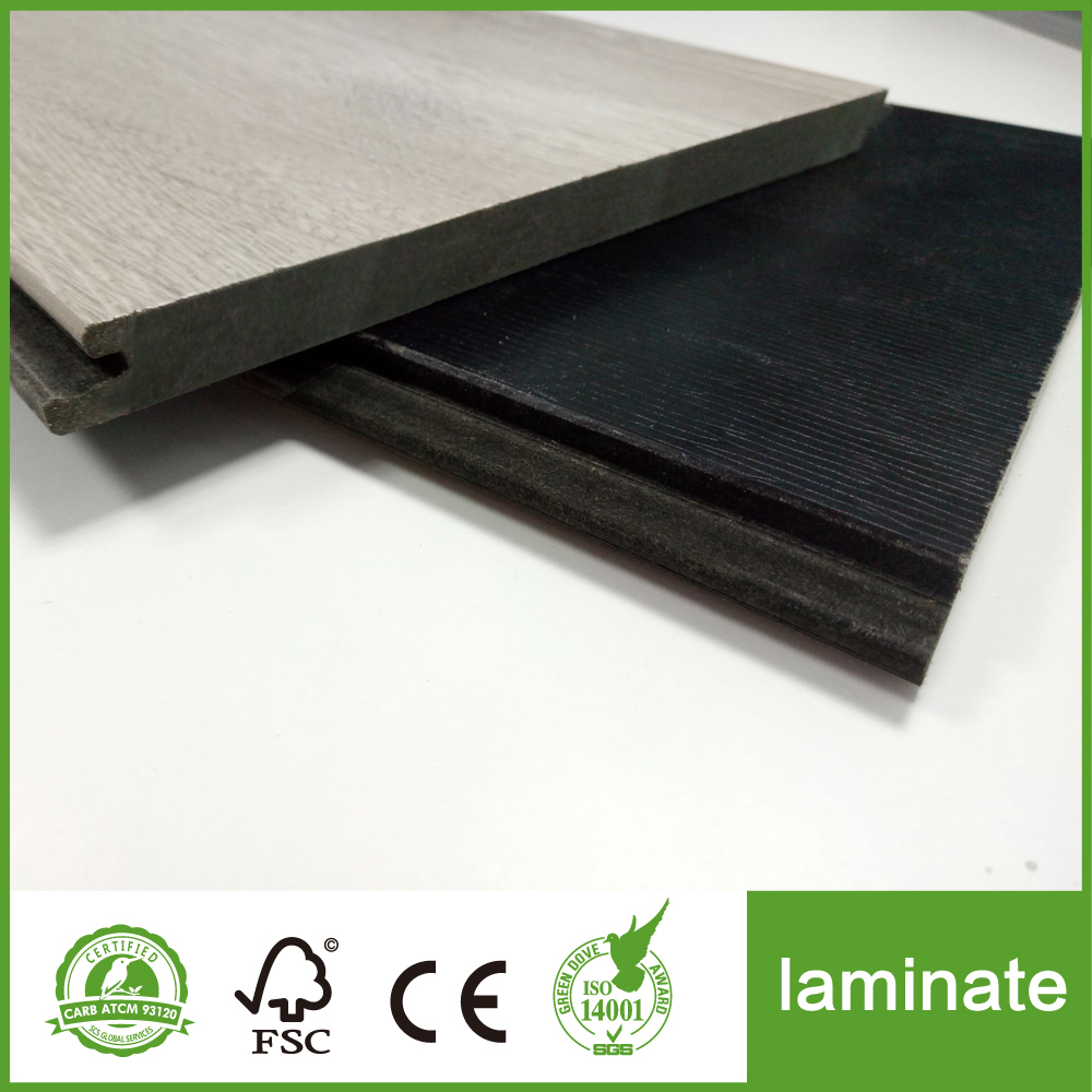 black hdf laminate tile