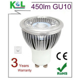 2014 Hottest COB LED LAMP GU10 LED Light,24/38/60deg, 450-500LM