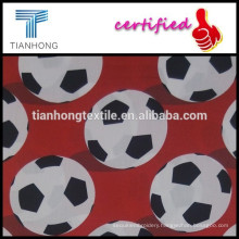 football season soccer design printed on high quality 100 cotton satin weave smooth light weight fabric for children clothing