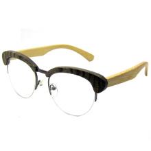Atraente design moda madeira óculos de sol (sz5686-4)