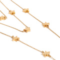 Trendy Girls Stainless Steel Three Layers Star Charm Necklace Women Christmas Gift