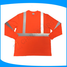 140gsm Vogelauge Mesh Gewebe benutzerdefinierte Konstruktion hohe Sichtbarkeit Shirts