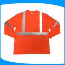 140gsm pássaro olho tecido de malha construção costume alta visibilidade camisas
