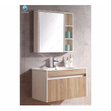 Made in china factory concise MDF cabinet mirror laundry room cabinets