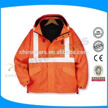 Casaco de segurança reflexivo de alta visibilidade laranja