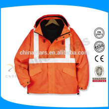 Оранжевая отражательная защитная куртка с высокой видимостью