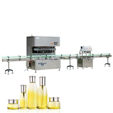 Automatic Rotary Small Bottle Cosmetic Liquid Cream Washing Filling Capping Machine