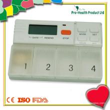 Alarme de lembrete do temporizador de pílula com caixa de comprimidos