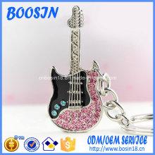 Porte-clés en forme de guitare à la mode pour cadeau