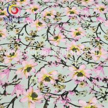 Algodão poliéster spandex cetim tecido impresso para vestuário vestido (gllml195)