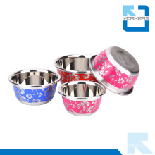 Chinese Style Metal Bowl Stainless Steel Mixing Bowl Set