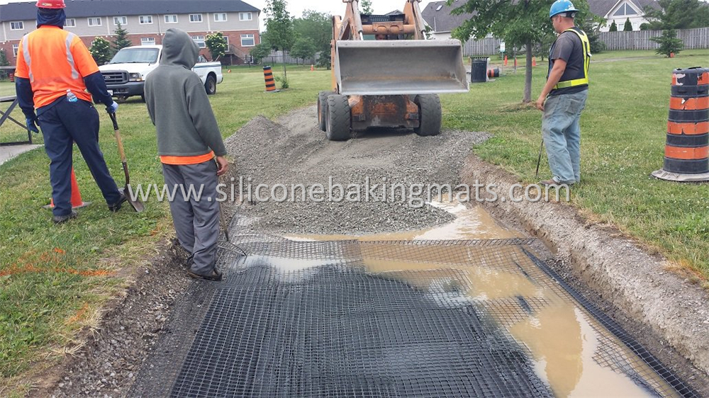 Biaxial Geogrid Road Construction