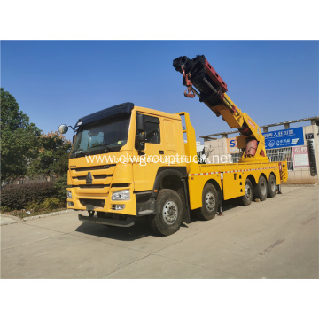 HOWO truck mounted rear large tonnage truck crane