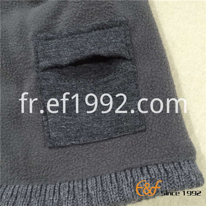ribbed knitted beanie hat with fleece