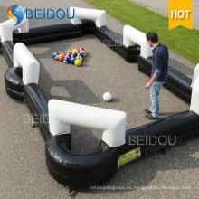 Nuevo hilable inflable duradero Campo de fútbol inflable Campo de fútbol inflable