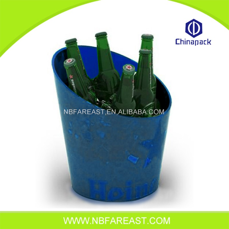 Full color printing ice bucket plastic