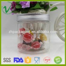 PET de grado alimenticio redondo 500g recipiente de plástico transparente para el caramelo