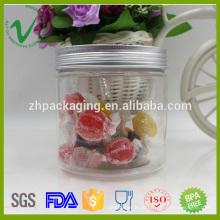 PET redondo de alimentação de 500g recipiente de plástico transparente para doces