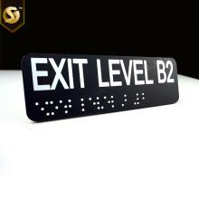 Letreros táctiles personalizados Placa Braille ADA