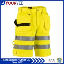 Polyester-Baumwolle hohe Sichtbarkeit Günstige Arbeits-Shorts (YGK119)