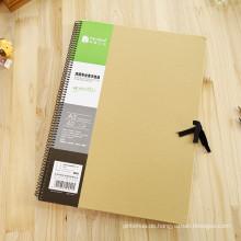 Retro Weinlese-Journal-Tagebuch-Notizbuch-Leder-unbelegter harter Abdeckungs-Skizzenbuch-Papier
