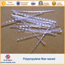 Fibre ondulée de Undee de polypropylène de pp pour la construction concrète de panneau de ciment de mur de plancher de ciment