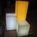 Coluna translúcida da decoração da passagem da luz do diodo emissor de luz e folhas translúcidas da resina da decoração da loja da forma