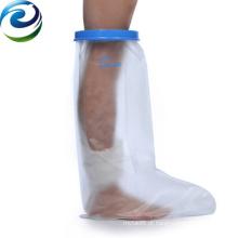 Fácil operação mais novo projeto elástico à prova d'água elenco & vestir curto protetor de perna