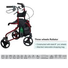 Rollator de tres ruedas