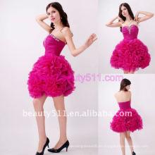 Astergarden foto real Sweetheart rebordear rosa Prom Organza vestido de cóctel AS145