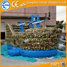 Castelo de salto inflável da cor da camuflagem, projeto inflável bouncer inflável