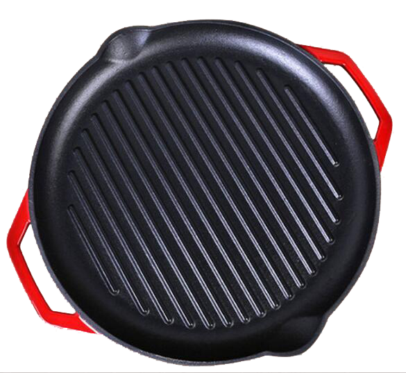 Ronde emaillecoating non stick gietijzeren pizza pan