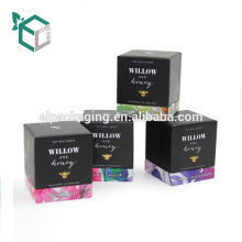 Custom Foldable Paper Packaging Candle Gift Cardboard Box with Lid