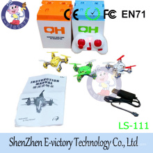 Mini 45mm 4CH 2.4GHz 6-Axis Gyro LED RC Quadcopter Bright color